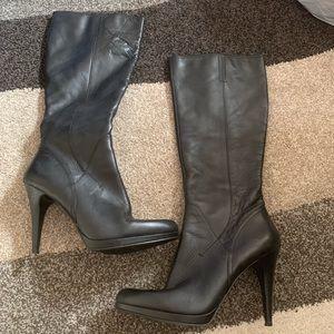 9aac348f0c27a JONES NEW YORK: Leather Platform Knee-High Boots